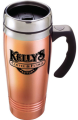 14 oz Copper/Stainless Travel Mug